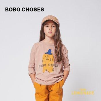 <img class='new_mark_img1' src='https://img.shop-pro.jp/img/new/icons1.gif' style='border:none;display:inline;margin:0px;padding:0px;width:auto;' />【BOBO CHOSES】 Dog In A Hat long sleeve T-shirt 【2-3歳 / 4-5歳】  221AC008 犬 長袖 Tシャツ 21AW YKZ