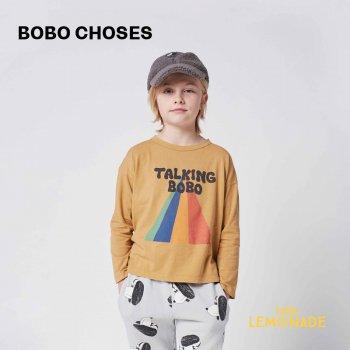 <img class='new_mark_img1' src='https://img.shop-pro.jp/img/new/icons1.gif' style='border:none;display:inline;margin:0px;padding:0px;width:auto;' />【BOBO CHOSES】 Talking Bobo Rainbow long sleeve T-shirt 【2-3歳 / 4-5歳 / 6-7歳】  221AC011 21AW YKZ