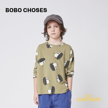 <img class='new_mark_img1' src='https://img.shop-pro.jp/img/new/icons1.gif' style='border:none;display:inline;margin:0px;padding:0px;width:auto;' />【BOBO CHOSES】 Doggie All Over long sleeve T-shirt 【2-3歳 / 4-5歳】  221AC013 犬 緑 長袖 21AW YKZ