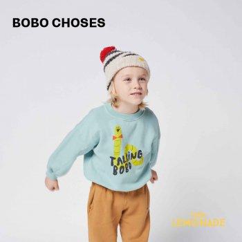 【BOBO CHOSES】 Scholar Worm sweatshirt 【2-3歳 / 4-5歳】  221AC031 あおむし 緑 スウェット トレーナー21AW YKZ