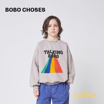 <img class='new_mark_img1' src='https://img.shop-pro.jp/img/new/icons1.gif' style='border:none;display:inline;margin:0px;padding:0px;width:auto;' />【BOBO CHOSES】Talking Bobo Rainbow sweatshirt 【2-3歳 / 4-5歳】  221AC032 虹 スウェット トレーナー21AW YKZ