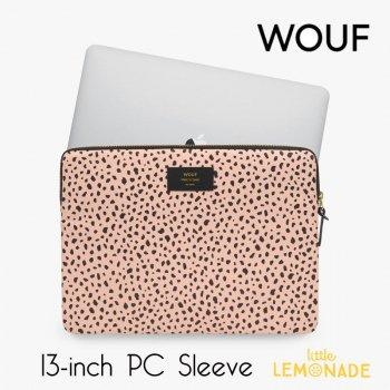 【WOUF】  13インチ PCケース 【Wild】 パソコン用スリーブ Macbook Pro 13inch PC Sleeve ヒョウ柄 豹柄 ピンク (S210014)