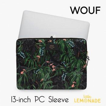 【WOUF】  13インチ PCケース 【Janne】 パソコン用スリーブ Macbook Pro 13inch PC Sleeve 黒豹 ブラック ヒョウ (S210011)