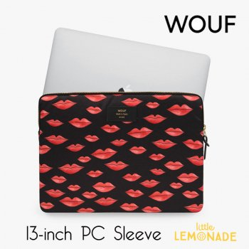 【WOUF】  13インチ PCケース 【Beso】 パソコン用スリーブ Macbook Pro 13inch PC Sleeve 赤 リップ 唇 (S210015)