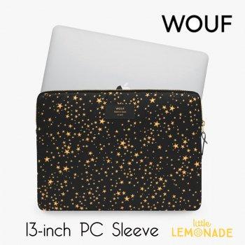 【WOUF】  13インチ PCケース 【Stars】 パソコン用スリーブ Macbook Pro 13inch PC Sleeve スター 星 ゴールド (S210013)