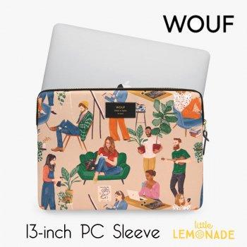 【WOUF】  13インチ PCケース 【Cozy】 パソコン用スリーブ Macbook Pro 13inch PC Sleeve 大人 女の人 男の人 (S210009)
