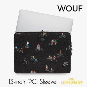 【WOUF】  13インチ PCケース 【Riders 】 パソコン用スリーブ Macbook Pro 13inch PC Sleeve 自転車 ライダー (SM210003)