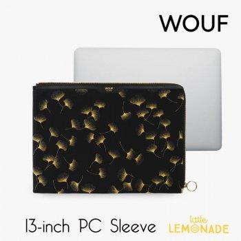 【WOUF】  13インチ PCケース 【Kyoto】 パソコン用スリーブ Macbook Pro 13inch PC Sleeve 京都 銀杏 いちょう ボタニカル (SA210017)