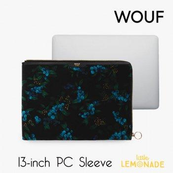 【WOUF】  13インチ PCケース 【Isabelle】 パソコン用スリーブ Macbook Pro 13inch PC Sleeve 青い実 ボタニカル (SA210018)