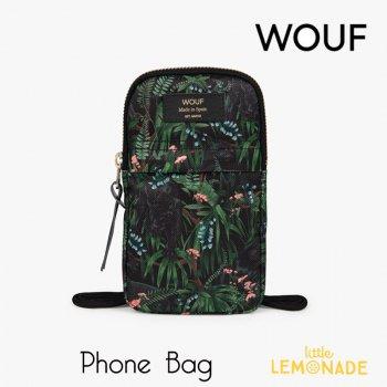 【WOUF】携帯バッグ 【Janne】 Phone Bag  黒豹 ブラック ヒョウ 小物入れ 小物ポーチ ショルダーバッグ 小物入れ スマホケース  (PB210011)