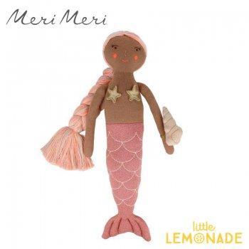 【Meri Meri メリメリ】 こんがりお肌のマーメイド ぬいぐるみ Pink Knitted Mermaid インテリア 子ども部屋 キッズルーム ファブリック 人魚姫(215290)