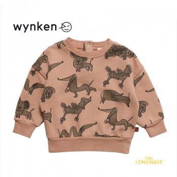【wynken】 Baby Arkle Sweat / DULL PINK 【 12か月 / 18か月 】 BW11J22 ベビー服 長袖 スエット BABY 犬 Dog 21AW YKZ