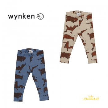 【wynken】 Arkle Legging / PUTTY ・ YEUX BLUE   【 12か月 / 18か月 】  BW11J26A  レギンス ベビー服 犬 ウィンケン 21AW YKZ