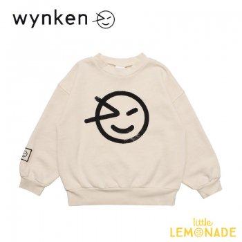 【wynken】 Slouch Sweat / OATMEAL BLACK   【 4歳 / 6歳 / 8歳 】  WK11J01 子供服 長袖 ホワイト スエット ウィンケン 21AW YKZ