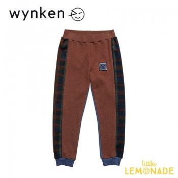 【wynken】 Band Track Pant / MARRON NIGHT BLUE   【 4歳 / 6歳 / 8歳 】  WK11J07 パンツ バイカラー ウィンケン 21AW YKZ