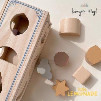 【Konges Sloejd】 MOON-CLOUD AND STAR SHAPE SORTER 型はめおもちゃ 形合わせ 木製おもちゃ (KS2372)