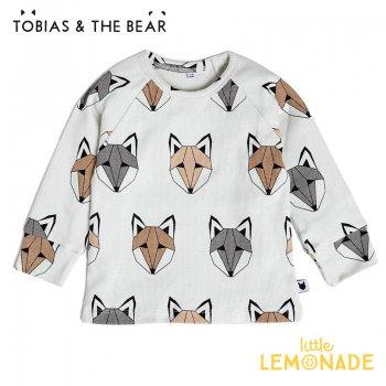 【Tobias & The Bear】Fox & Co long sleeve tee  【12-18/18-24か月/2-3歳】 キツネ 21AW  (FOXMULT)