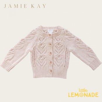 【Jamie Kay】SOPHIE CARDIGAN - BUTTERFLY FLECK 【1歳/2歳/3歳】 カーディガン ピンク ニット トップス 21AW