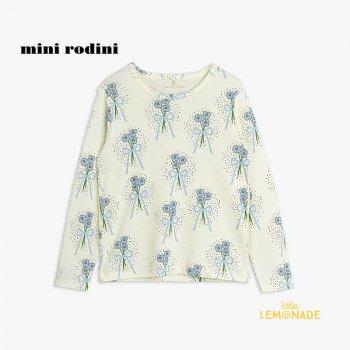 【Mini Rodini】 Winterflowers aop ls tee / Blue 【9か月-1.5歳 / 1.5-3歳 / 3歳-5歳】(2172012160)  21AW YKZ