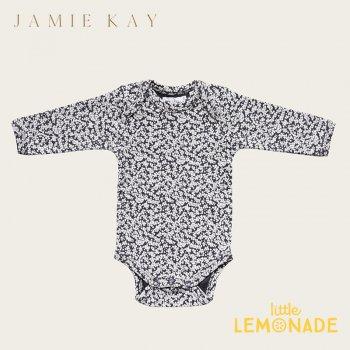 【Jamie Kay】 BODYSUIT - HAWTHORN ON PERISCOPE   【6-12か月/1歳】 ロンパース ブラック 花柄  ボディ 21AW YKZ