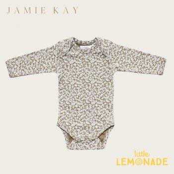 【Jamie Kay】 BODYSUIT - HAWTHORN ON LIBERTY   【6-12か月/1歳】 ロンパース カーキー 花柄 ボディ 21AW YKZ