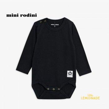 【Mini Rodini】 Basic ls body / Black 【4か月-9月/9か月-1.5歳】(1000001399)  ベーシックシリーズ YKZ