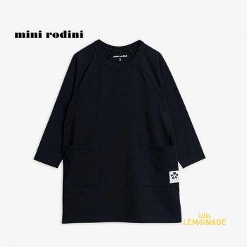 【Mini Rodini】 Basic ls dress / Black 【3歳-5歳 / 5歳-7歳】(1000001799)  ベーシックシリーズ YKZ
