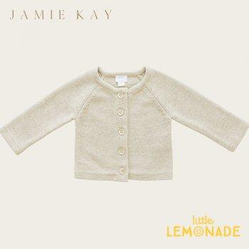 【Jamie Kay】 SIMPLE CARDIGAN - OATMEAL MARLE 【1歳/2歳】 カーディガン オフホワイト ニット トップス 21AW