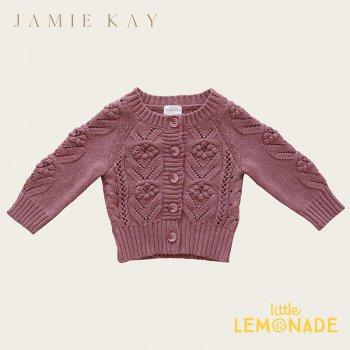 【Jamie Kay】 SOPHIE CARDIGAN - ASH ROSE MARLE  【1歳/2歳/3歳】 カーディガン 濃いピンク ニット トップス 21AW