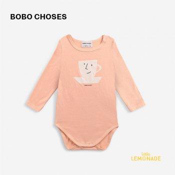 【BOBO CHOSES】 Cup Of Tea body 【6-12か月 / 12-18か月】  221AB007 コーヒーカップ柄 ベビー ボディ ピンク 21AW YKZ