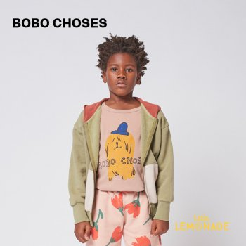 【BOBO CHOSES】  Doggie zipped hoodie 【2-3歳 / 4-5歳】  221AC044 長袖フード付きパーカー 犬柄 21AW YKZ