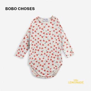 【BOBO CHOSES】  Flowers All Over body 【6-12か月 / 12-18か月】  221AB001 花柄 ポピー ベビー ボディ 21AW YKZ