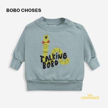 【BOBO CHOSES】  Scholar Worm sweatshirt 【12-18か月 / 18-24か月】  221AB036 あおむし柄 長袖 スウェット 21AW YKZ