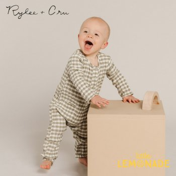 【Rylee+Cru】 OLLIE JUMPSUIT GINGHAM 【12-18か月/18-24か月】 RC345LE  21AW カバーオール ライリー ykz