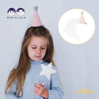 【Mimi&Lula ミミアンドルーラ】  PRINCESS HAT  ゴールドスターのベール付ハットアクセサリー (ML30500204)