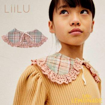 【LiiLu】 Check Collar 付け襟 チェック柄 ピンク フリル 襟 おしゃれ ドイツ リール YKZ