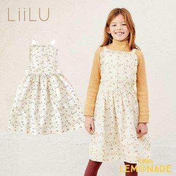 【LiiLu】  Lara Apron 【2歳/4歳/6歳/8歳】 ワンピース 花柄 フリル キッズ ドレス  ドイツ リール YKZ