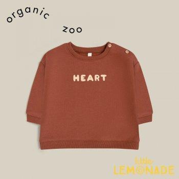 <img class='new_mark_img1' src='https://img.shop-pro.jp/img/new/icons3.gif' style='border:none;display:inline;margin:0px;padding:0px;width:auto;' />再入荷予約販売 【organic zoo】 Heart Soul Sweatshirt 【1-2歳/2-3歳/3-4歳】 スウェット トレーナー 長袖 赤茶色 オーガニックズー DEBSHS 21AW