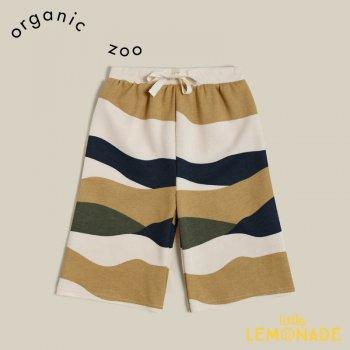 【organic zoo】 Wide Leg Rolling Hills Countryside 【1-2歳/2-3歳/3-4歳】 パンツ スウェット ネイビー 縞模様 WLRHN 21AW
