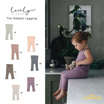 【LOVELY LITTLES】 The Ribbed Legging 無地ベビー カラーレギンス  【 12か月・24か月・3歳 】 全7色 リブ 21AW YKZ