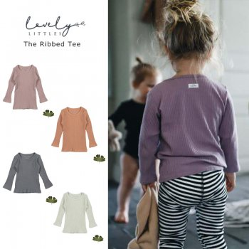 <img class='new_mark_img1' src='https://img.shop-pro.jp/img/new/icons1.gif' style='border:none;display:inline;margin:0px;padding:0px;width:auto;' />【LOVELY LITTLES】 The Ribbed Tee 無地 ベビー リブ 長袖Tシャツ  【 12か月・24か月・3歳 】 全4色 21AW YKZ