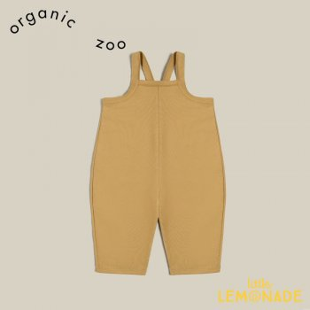 【organic zoo】  Leaf Dungarees 【1-2歳/2-3歳/3-4歳】 リーフ ダンガリー イエロー ジャンプスーツ サロペット LDOZ 21AW