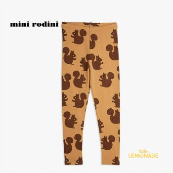 【Mini Rodini】 Squirrel aop leggings / Brown 【9か月-1.5歳 / 1.5-3歳 / 3歳-5歳 】 (21730110)  21AW YKZ