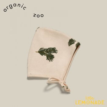 【organic zoo】  Pine Forest Bonnet  【0-3か月/3-6か月/6-12か月/1-2歳】  ボタニカル柄 葉 オーガニックコットン PFPIXIE 21AW