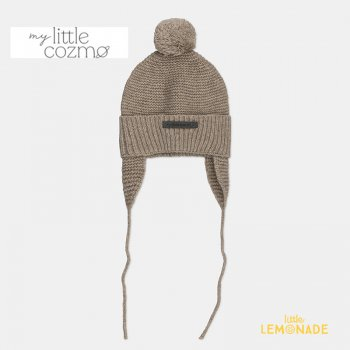 <img class='new_mark_img1' src='https://img.shop-pro.jp/img/new/icons1.gif' style='border:none;display:inline;margin:0px;padding:0px;width:auto;' />【MY LITTLE COZMO】 baby knitted beanie / beige 【 3-12か月 / 12-24か月 】 (AIKE147) ニット帽 ベビーサイズ YKZ 21AW