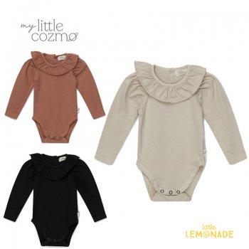 <img class='new_mark_img1' src='https://img.shop-pro.jp/img/new/icons1.gif' style='border:none;display:inline;margin:0px;padding:0px;width:auto;' />【MY LITTLE COZMO】 organic baby girl bodysuit stone / dark grey / brown  【12か月 】 (ANAIS97) YKZ 21AW