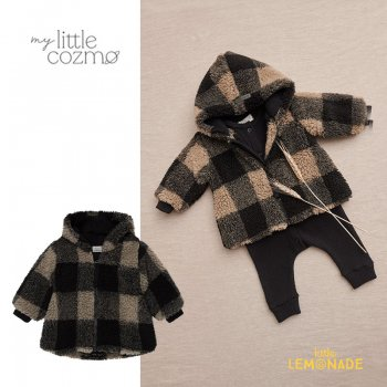 <img class='new_mark_img1' src='https://img.shop-pro.jp/img/new/icons1.gif' style='border:none;display:inline;margin:0px;padding:0px;width:auto;' />【MY LITTLE COZMO】 plaid baby coat recycled /multi  【12か月 / 24か月 】 (HAVEN137)  ジップ パーカー YKZ 21AW
