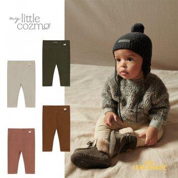 <img class='new_mark_img1' src='https://img.shop-pro.jp/img/new/icons1.gif' style='border:none;display:inline;margin:0px;padding:0px;width:auto;' />【MY LITTLE COZMO】 basic baby leggings khaki/brown/stone/caramel 【12か月/24か月 】 (LEGGING145)  YKZ 21AW