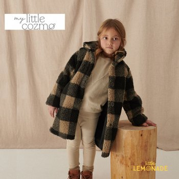 <img class='new_mark_img1' src='https://img.shop-pro.jp/img/new/icons1.gif' style='border:none;display:inline;margin:0px;padding:0px;width:auto;' />【MY LITTLE COZMO】 plaid kids coat recycled /multi  【4歳 / 6歳 / 8歳 】 (MAIAK137)  チェック柄 コート YKZ 21AW