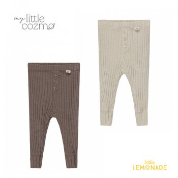 <img class='new_mark_img1' src='https://img.shop-pro.jp/img/new/icons1.gif' style='border:none;display:inline;margin:0px;padding:0px;width:auto;' />【MY LITTLE COZMO】 organic baby ribbed leggings taupe/stone  【6か月 / 12か月】  (MIKEL143)  YKZ 21AW